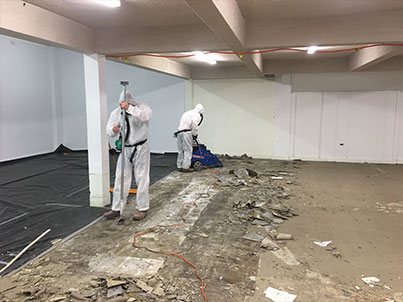 Case Study Asbestos Floor Tile Removal In Operational Store