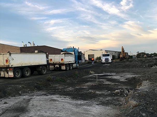 asbestos in soil truck